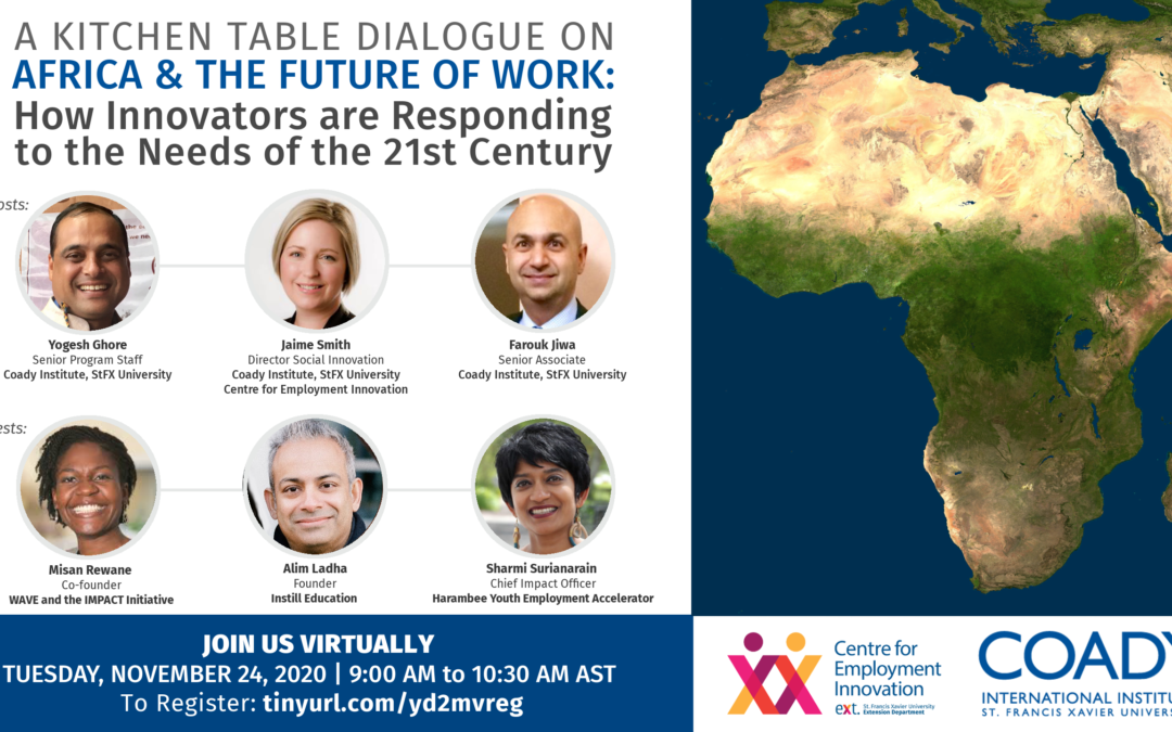 WEBINAR SERIES – Africa & The Future of Work: How Innovators are Responding to the Needs of the 21st Century